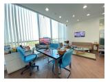 Sewa Murah Office Space 333 m2 Fully Furnished APL Tower at Central Park Jakarta Barat
