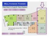 Dijual Office Space Luas 280 m2 dan 390 m2 Semi Furnished di Multivision Tower